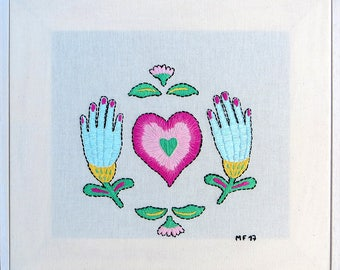 Love is the answer Embroidery, Embroidery art, Embroidery illustration, Hand embroidery, Modern wall hanging, modern embroidery.