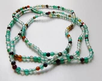 1.5mm Round Mixed Agate - Full Strand
