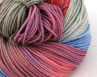 Windham 100% US Merino Hand Painted worsted weight 220 yds 201m ~4oz 113g Elphyne