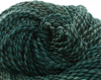 Middlefield Hand Dyed aran weight wool alpaca blend 200 yds 4oz Cypress