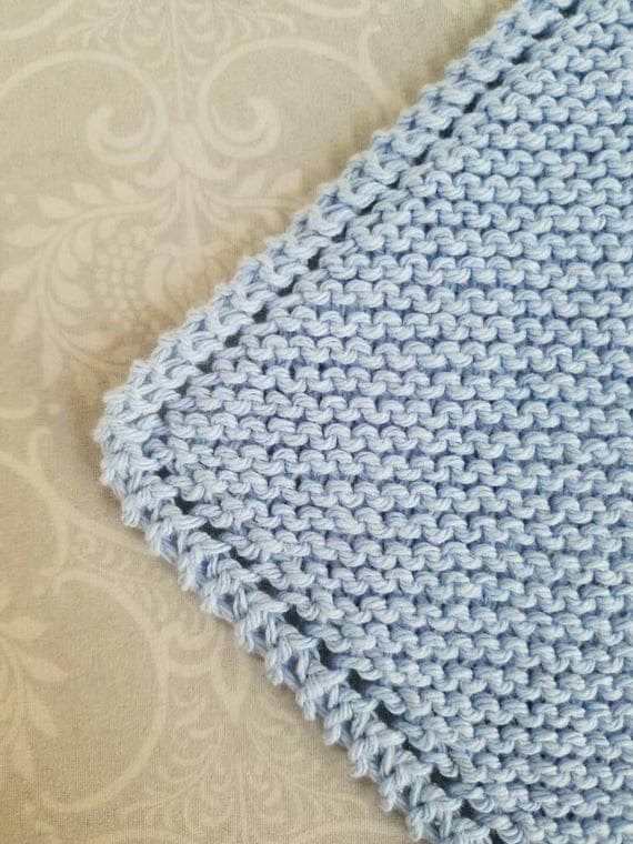 Light Blue Cotton Dishcloth