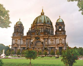 Berliner Berlin Dom cathedral church Germany 36X24 print on canvas pop wall art