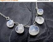 moonstone necklace, moonstone briolette necklace, rainbow moonstone necklace, necklace for bride, sterling silver, gift for her,