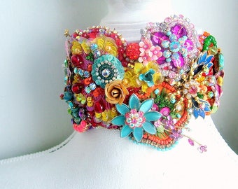 Embellished floral hairband - One of a kind - Ready to ship xx