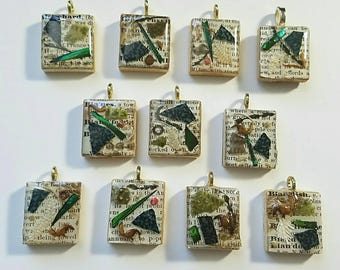 Cabinet of Curiosities Scrabble Tile Pendant