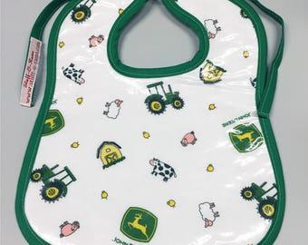 Wipeable Baby Bibs - John Deere