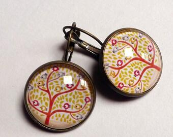 The birds BO238 tree earrings
