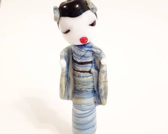 Miki - Japanese Geisha Style Glass Lampwork Beads