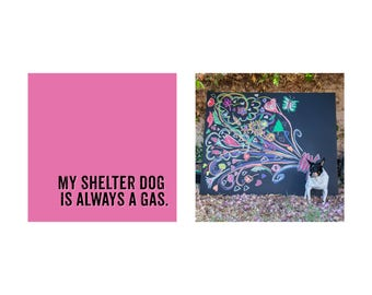 Shelter Dog chalk art