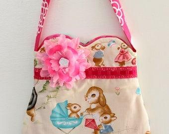 Bunnie baby purse, girls purse, toddler purse,