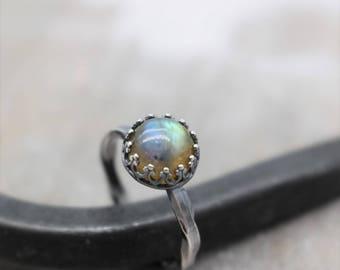 Labradorite Sterling Silver Stacking Ring