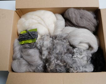 Felting feltmaking spinning fibre art texture pack naturals over 500g