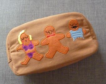 Gingerbread Cosmetic Bag