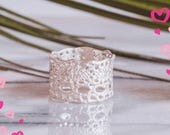 Valentines sale- Lilibet Lace ring in sterling silver-featured at Anthropologie
