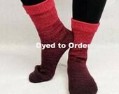 Vampire Boyfriend Chromatic Gradient Matching Socks Set Yarn, dyed to order - pick your size, pick your yarn base