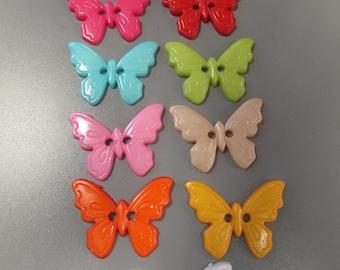 Butterfly Buttons X 4