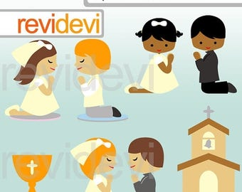 35% OFF SALE First communion clipart - My first communion clip art - Christian church clipart - instant download - digital images