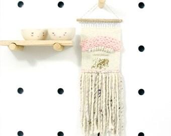 rainbow princess  .. mini wall hanging, weave, woven, wall art, wall decor, nursery art decor, home, living wall art,