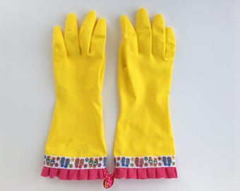 Designer Cleaning Gloves. Size Large. Flip Flop Summer. Kitchen Latex Dish Gloves. Rubber Dishwashing Gloves.