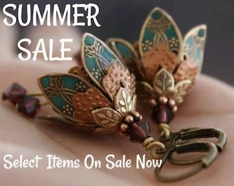 Flower Earrings, Dangle - Earrings, Gift/For/Her/, Graduation Gift, Dangle Earrings, Gift for Wife, Drop Earrings, Wife Gift,Girlfriend Gift