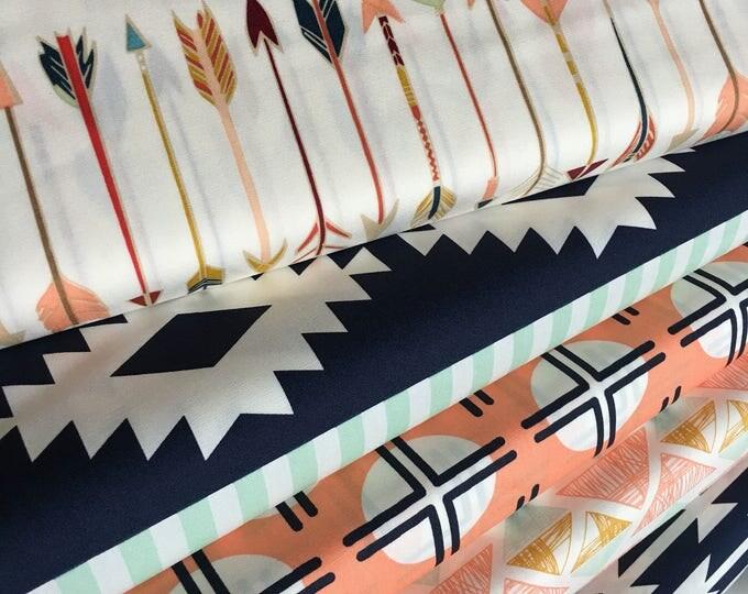 Fat Quarter Bundle, Modern Fabric, Arizona bundle of 5, Choose Your Cut