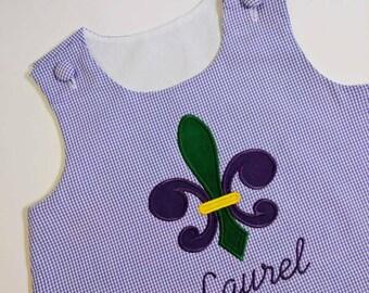 Mardi Gras Jumper, Fleur de list jumper, Mardi gras outfit for girls