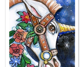 the Wild Unicorn, 11x14 size Art print