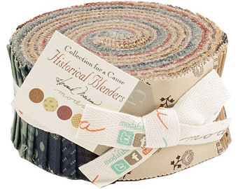 """Moda Historical Blenders Jelly Roll 2.5"""" Precut Fabric Quilting Cotton Strips Howard Marcus 46165JR"""