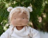 "RESERVED FOR MAGGIE Waldorf Inspired doll by Little Noel 14"" lightly weighted"