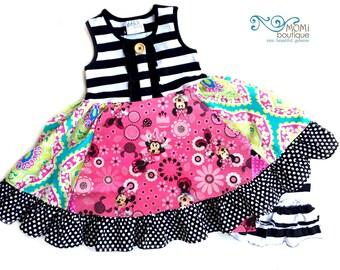 Minnie Mouse girls Disney dress Momi boutique custom girls dress