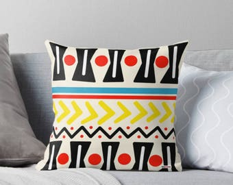 Pillow cover - Modern pillow cover - Couch pillow - Scandinavian design - Decorative pillow - contemporary decor - Pop colors