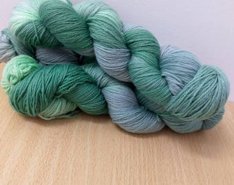 Sprout Sock Yarn Super wash Merino/Nylon Sock Yarn Hand Dyed Sock Yarn Green Sock Yarn
