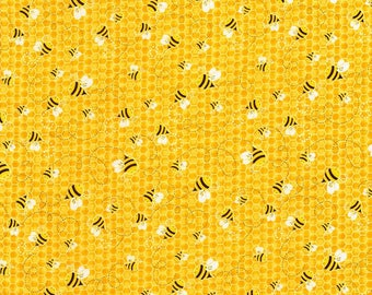 Beeloved/You Are My Sunshine- Bees-TIMELESS TREASURES- Cotton Fabric- Quilt- Bee -Apparel-WindyRobinCotton- *Sold by half yard.