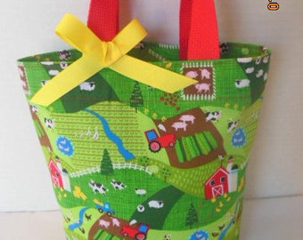 Down on the Farm Tote/Gift Bag/Easter Basket