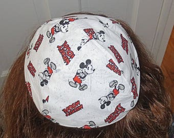 Mickey Mouse kippah or lined yarmulke toddler or regular sizing great kids kippah adults yarmulke the Original Mickey Mouse styling