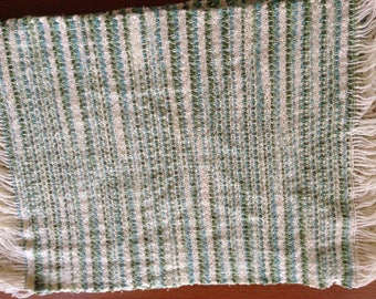 Handwoven placemats in Emerald Isle cotton, set of 4