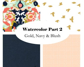 Custom Crib Bedding-3 piece-WaterColor Part 2