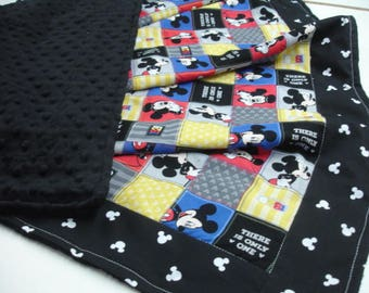Mickey Mouse Minky Baby Blanket 34 x 48 READY TO SHIP On Sale
