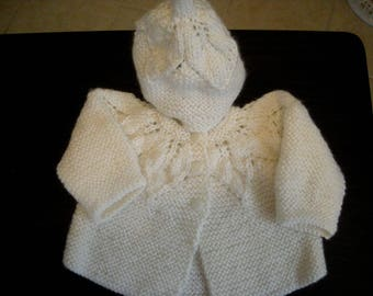 Baby Sweater Set  - Hand knit Infant, boy or girl