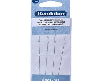 Beadalon Collapsible Eye Needles 2.5-Inch Fine 4 Pack 700F-102