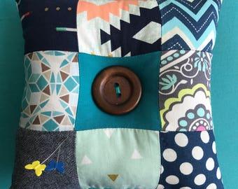 Tic Tac Toe Patchwork Pin Cushion