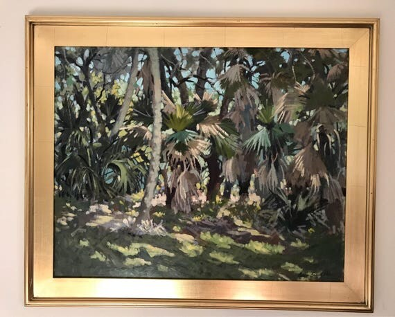 Morgan Samuel Price (Florida's Painter) Impressionist Landscape Oil on Board