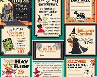 ON SALE Penny Rose Fabrics Trick or Treat Main Teal