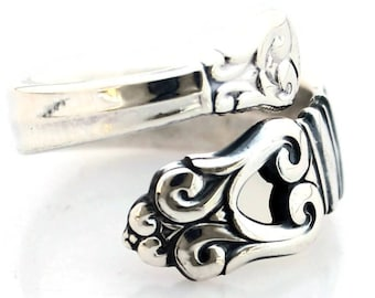 Spoon Ring Sterling Silver Royal Danish by International Silver Co. 1939 Demitasse Size 5-9