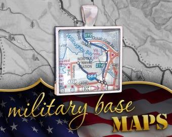 Norfolk Naval Station / U.S. Second Fleet Map Pendant