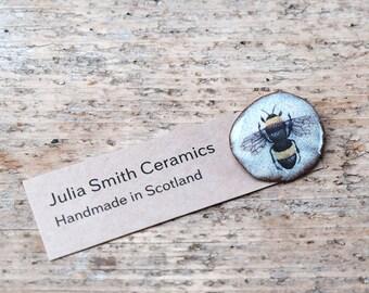 Ceramic Bee Brooch