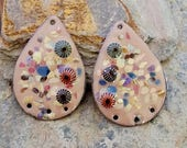 50% Off Enameled copper earring components, Item 1125