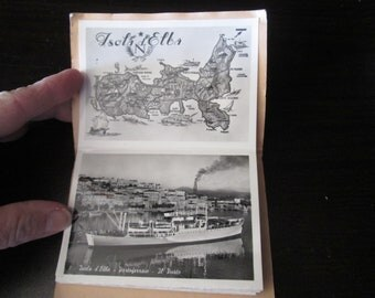"""Vintage photo cards in book of Italy Measures 3"""" x 4"""" contains 18 photo cards"""