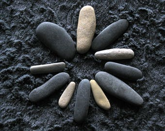 Beach Stones/Rocks~11 Unique Fingers~Channel Island~Display~Carin Stacking Stones~Garden~Memory~Meditate~Decorative~S8