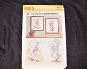 Vintage 70s Holly Hobbie Embroidery Pattern Wall Hangings